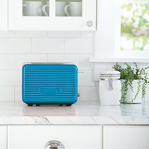 BELLA LINEA 2 Slice Toaster with Extra Wide Slot, Color Teal by BELLA (Image #2)