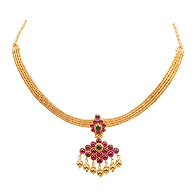 gold for from cz jewellery women with weighted womens necklace indian antique south emeralds pearls sea jewelers sets temple set diamond light ruby totaram jewelry earrings
