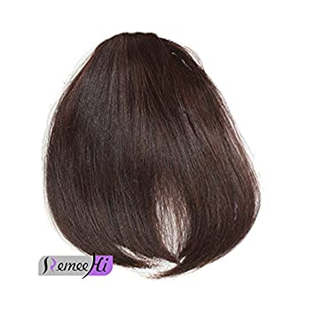 Remeehi New Fashion Real Human Hair Flat Bangs/Fringe Hand Tied Bangs Clip-in Hair Extension 613#