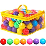 120 Count 7 Colors Free BPA Free Crush Proof Plastic Balls for Ball