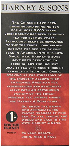 Harney and Sons Premium Tea Bags, 20 Count 3 A traditional blend of hand-picked black teas from India The Assam is mellowed a bit with a smooth south Indian Tea It can be enjoyed on its own or with milk and sugar
