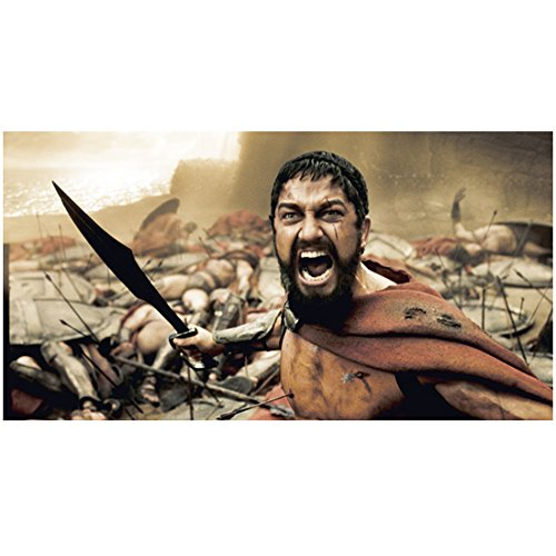 300-gerard-butler-as-king-leonidas-holding-short-sword-mouth-open-dead-soldiers-in-background-8-x-10