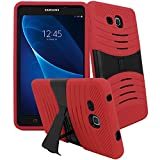 Galaxy Tab A 7.0 inch Case, [Heavy Duty] Samsung Galaxy Tab A 7.0 (2016 Release) SM-T280 / SM-T285 Tablet Bvgande Le Mes Series [Dual Layer] Hybrid Full-body Protective Kickstand Case (Red)