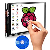 "Kuman 3.5 "" Inch TFT LCD Display 480x320 RGB Pixels Touch Screen Monitor for Raspberry Pi 3 2 Model B B+ A+ A Module SPI Interface with Touch Pen SC06"