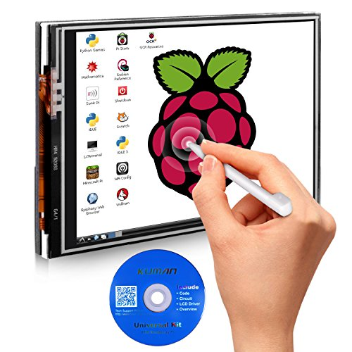 kuman for Raspberry Pi 3B+ TFT LCD Display, 3.5 Inch 480x320 TFT Touch Screen Monitor for Raspberry Pi Model B A+ SPI Interface with Touch Pen SC06