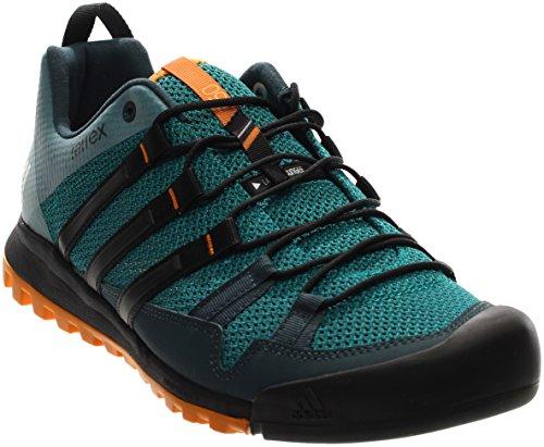 Adidas Outdoor Terrex Solo Approach Shoe Men's Eqt Green/Black/Eqt Orange, 8.5 USSH16030720072