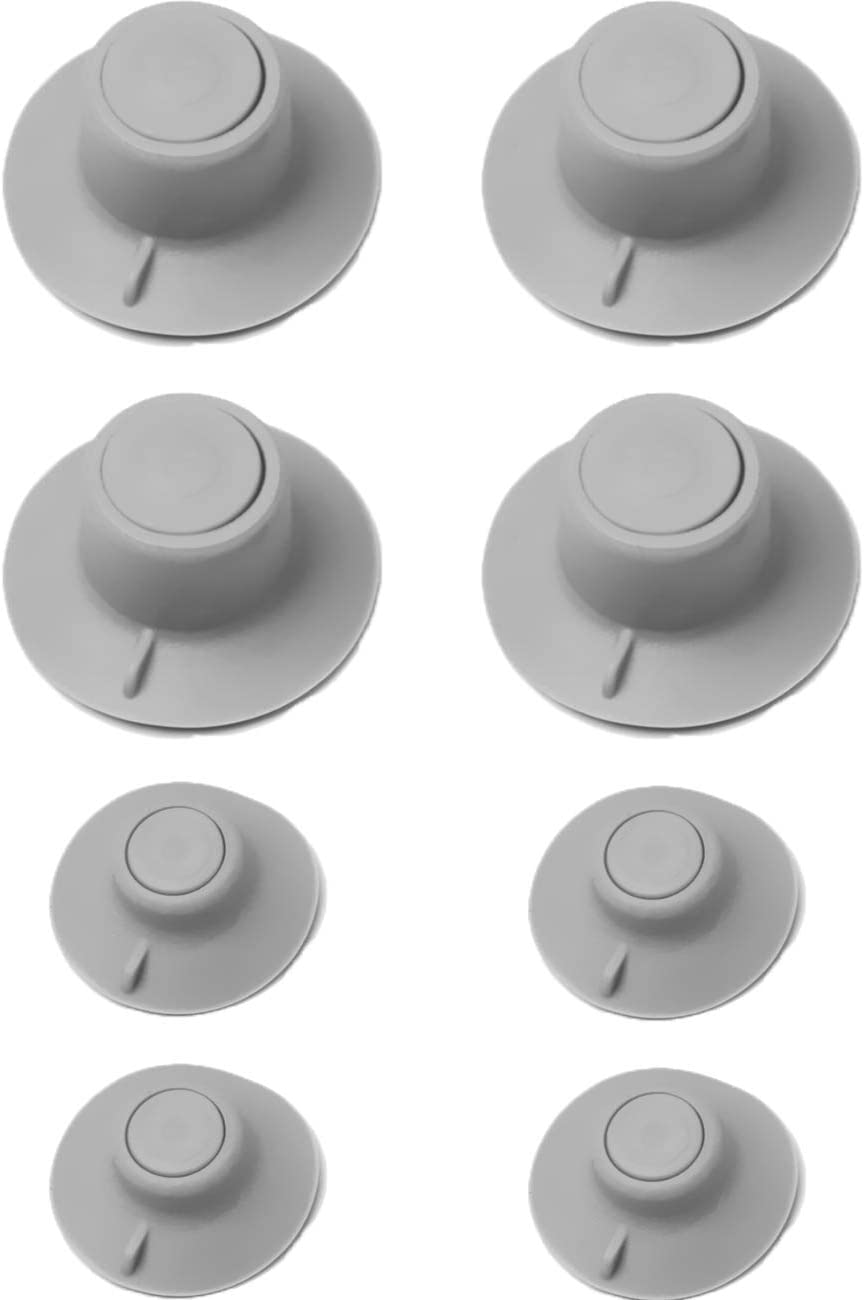 MOTZU 8 Pieces Laptop Computer Cooling Feet Rubber Holder Kickstand Suction Cup Heat Reduction Pad Universal Tablet/Notebook Stands Corner Pad Anti-Slip Silicone Elevation Stand (4Small+4Big,Gray)