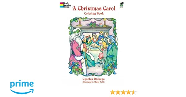 A Christmas Carol Coloring Book Charles Dickens Marty Noble 9780486405636 Books