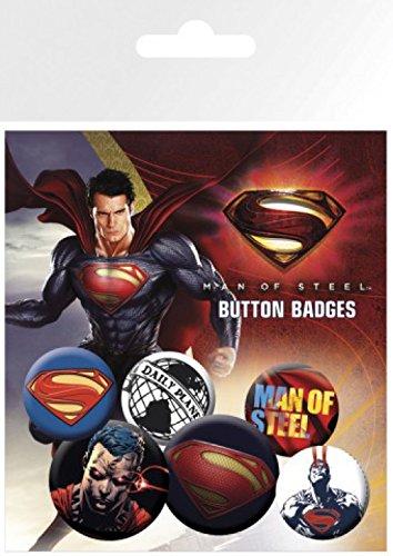 25mm Steel 4 32mm 1art1® X 15x10 Paquet Of Cm Surprise Sticker Set amp; 1x 2 Superman Badges De Man qwy0pIXK0B