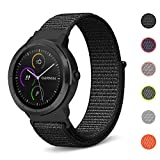 C2D JOY for Garmin Vivoactive 3&Music/Vivomove&HR/Forerunner 645&Music Sport Loop Replacement Bands Woven Nylon Watch Bands No Buckle Needed - 6 Colors, Small/Large