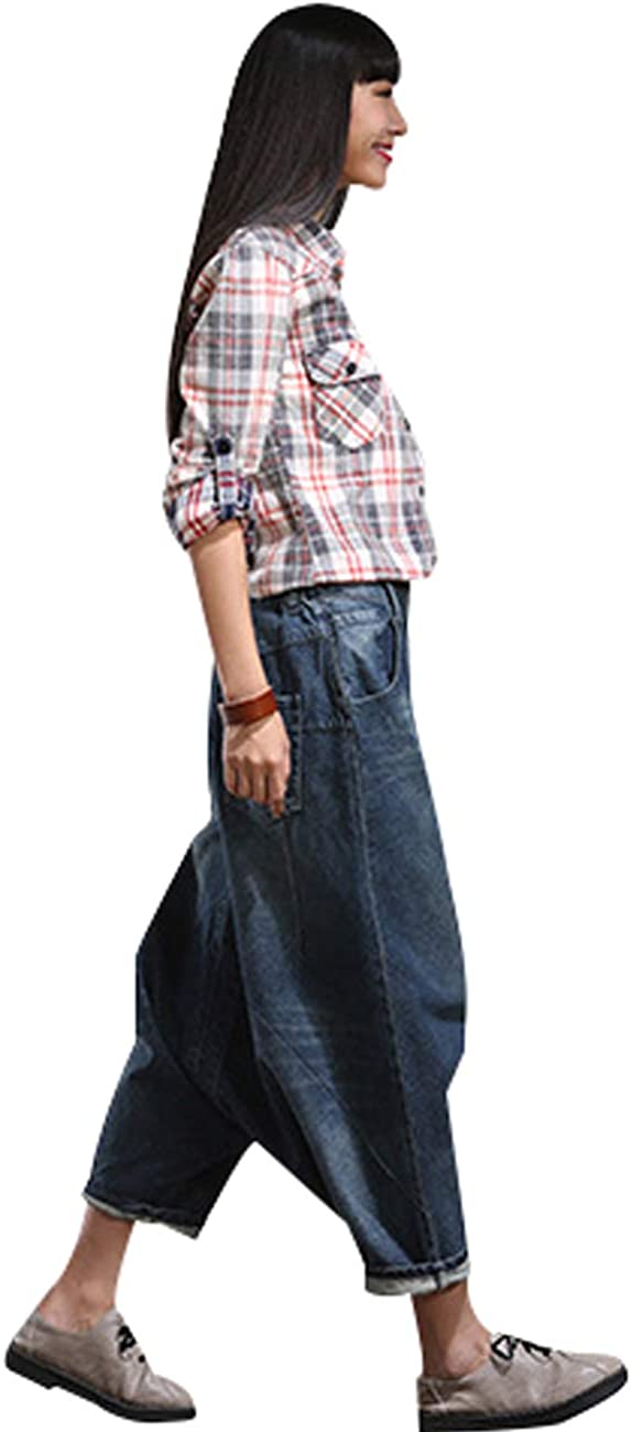 Youlee Donne Big Crotch Harem Pantaloni