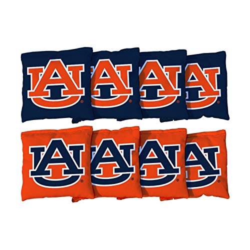 Victory Tailgate NCAA Collegiate Regulation Cornhole Game Bag Set (8 Bags Included, Corn-Filled) - Auburn University Tigers