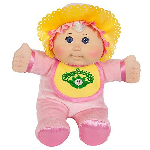 - Cabbage Patch Kids 11 Inch Pink Retro Baby Doll (Caucasian Girl, Blonde Hair, Blue Eyes)