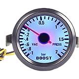 ESUPPORT Car 2' 52mm Turbo Boost Gauge Meter Bar Pointer Blue LED Light