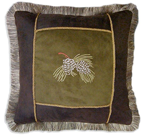 - Carstens Embroidered Pinecone Pillow