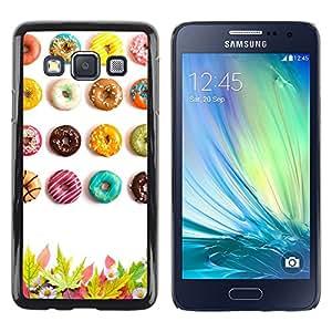 LECELL--Funda protectora / Cubierta / Piel For Samsung Galaxy A3 SM-A300 -- Donuts Glazed Sugar Rush Colorful Art --