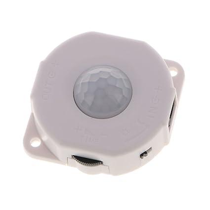 Gazechimp DC12V / 24V PIR para Lámpara 6A de LED Interruptor Infrarrojo Auto de Sensor de