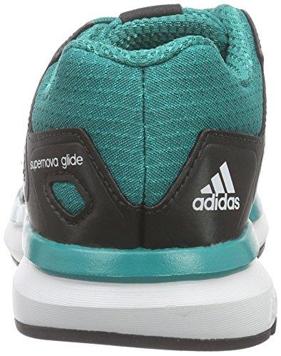 adidas Supernova Glide 8 K, Zapatillas de Running Unisex Bebé, Multicolor, 38,5 EU Negro / Blanco / Verde (Negbas / Ftwbla / Eqtver)