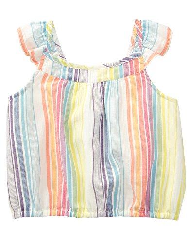 (Crazy 8 Girls' Toddler' Woven Crop Top, Multi Gauze Stripe, 5T )