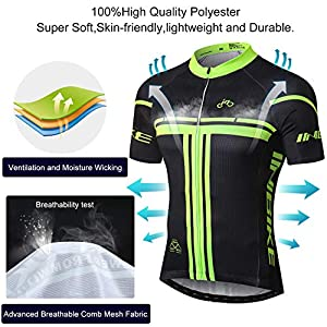INBIKE Men's Cycling Jerseys Set for Outdoor Biking