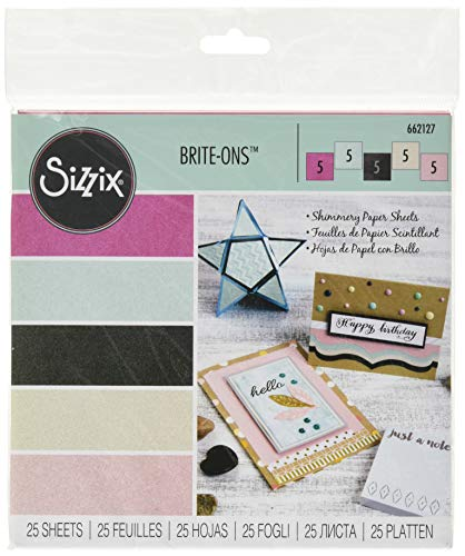 25 Layered Cuts Die - Sizzix 662127 Brite-ons Paper, 25 Sheets