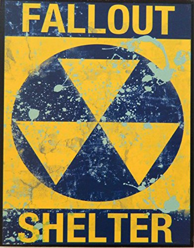 Halloween, Man Cave Primitive Distressed Wood Print Sign 8.5 x 11 Fallout Shelter