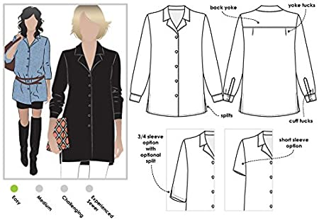 Style Arc Sewing Pattern - Jane Over Shirt (Sizes 04-16) - Click for Other Sizes Available 4337014827