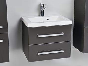 Waschbecken rechteckig mit unterschrank  Quentis Waschplatzset Genua 50, 2-teilig, Waschbecken und ...