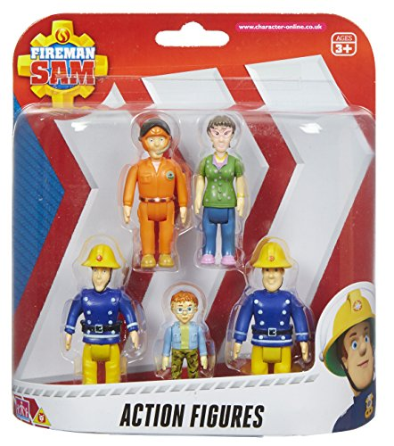 Fireman Sam Action Figures - 5 Figure Pack