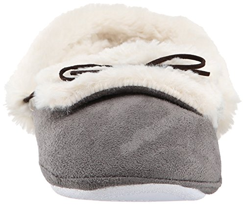 Gold Toe Women's Furry Mule Slipper Grey YYYiSux