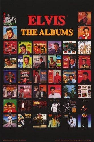 - Buyartforless Elvis Presley The Albums 40 (1956 to 1977) 34.5x22.25 Music Art Print Poster