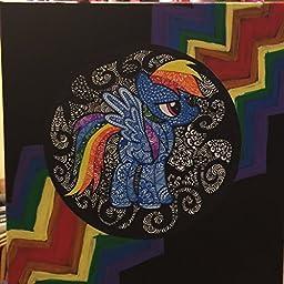 Rainbow Dash hand drawn as Rainbolt Dash original artwork displayed on 12\