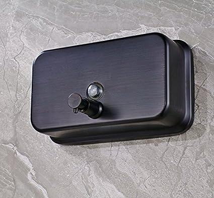 KIEYY acero inoxidable dispensador Brass jabón Negro pared dispensador de jabón toque Kitchen montado 1,000 Ml