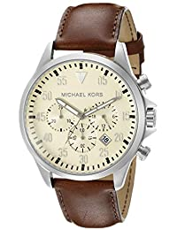 Michael Kors Men's Gage MK8441 - Silver/Brown Watch
