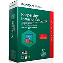 KASPERSKY INTERNET SECURITY 2018 5PC 1 AÑO licencia electrónica