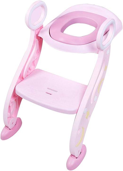 MASODHDFX Asiento del Entrenador del Inodoro del bebé del niño Asiento Escalera del Taburete Escalera Silla de Entrenamiento Ajustable,A: Amazon.es: Hogar
