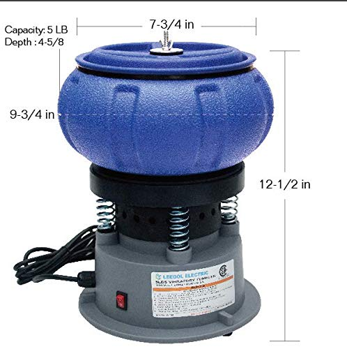 Leegol Rock Tumbler 5LBs Vibratory Tumbler Bowl Tumbling Polishing Machine - Turn Rocks into Stunning Gemstones by Leegol (Image #1)
