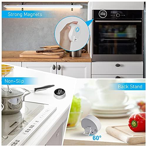 Digital Kitchen Timer, Magnetic Timer Kitchen, Digital Kitchen Timer for Cooking, Magnetic Timer for Fridge Large LED Display Volume Adjustable, for Seniors and Kids to Use