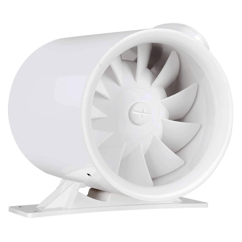 VIVOSUN 6 Inch 252 CFM Inline Duct Ventilation Fan, Mixed Flow Fan HVAC Exhaust Blower for Grow Tent