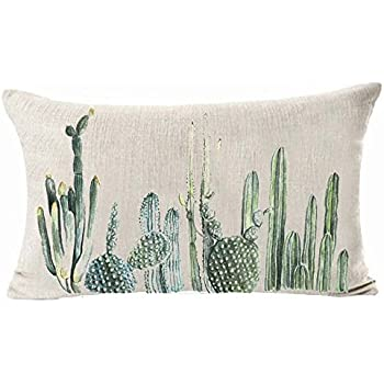 Amazon.com: Hixixi 4-Pack Cactus Cushion Cover Throw Pillow ...