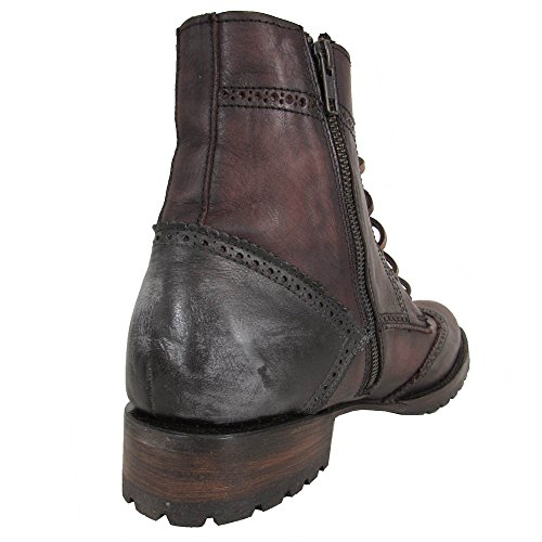 Freebird Di Steven Mens Oxcr Wingtip Lace Up Combattimento Boot Shoes Vino