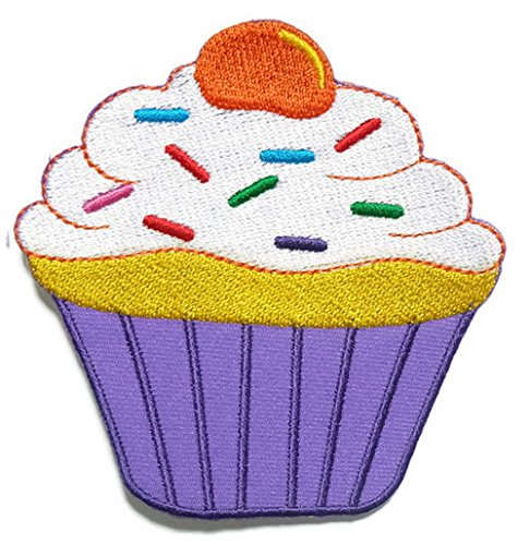 cup cake Iron on Patch Embroidered Sewing for T-shirt, Hat, Jean ,Jacket, Backpacks, Clothing