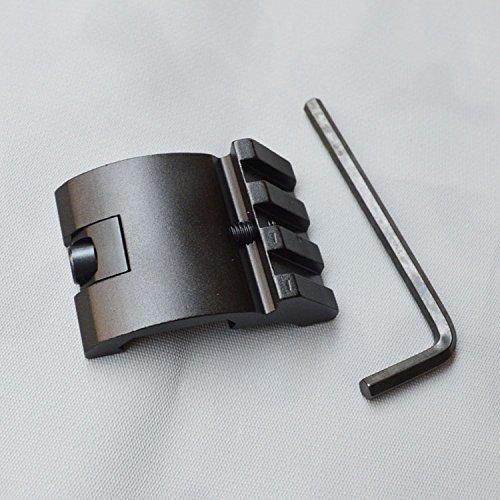 LVLING Offset Low Profile Picatinny Rail Mount 45 Degree 20mm Side Black For Sight, Scope, Flashlights