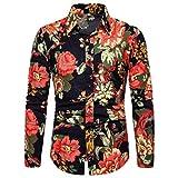 Mens Summer t Shirts Short Sleeve Tronet Men's Summer Fashion Business Leisure Printing Long-Sleeved Shirt Top Blouse