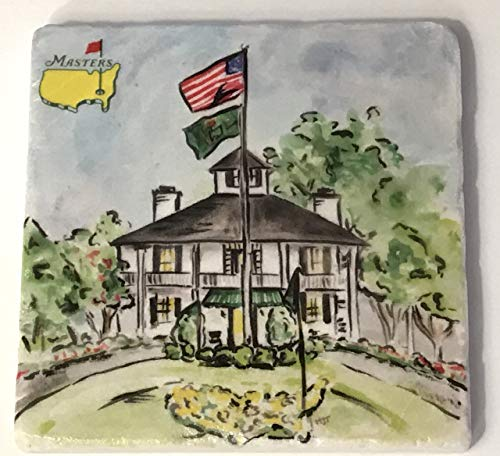 2019 Masters drink coaster augusta national golf clubhouse new