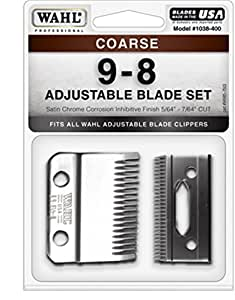 Wahl Professional Animal Standard Adjustable Replacement Blade Set, 9-8 Coarse #1038-400