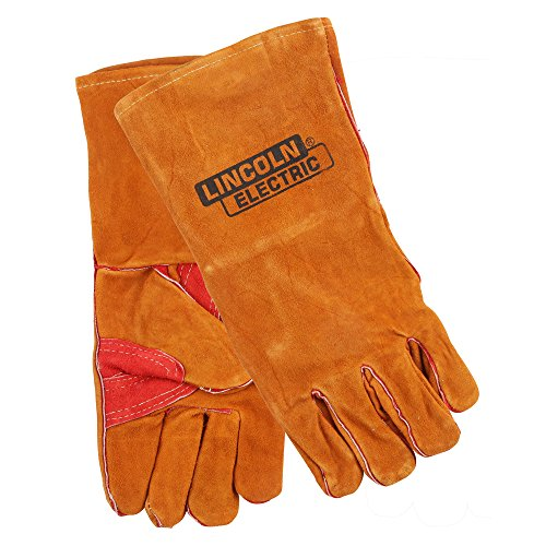 Lincoln Electric KH642 Leather Welding Gloves, One Size, Brown (Welding Economy Gloves)
