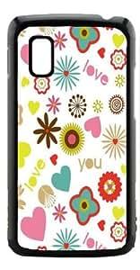 HeartCase Hard Case for Google Nexus 4 LG E960 ( Floral Pink Pattern )