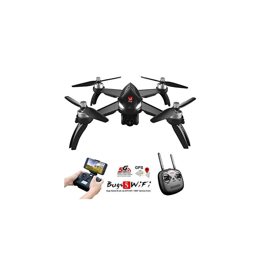 MJX B5W Bugs 5W RC Racing FPV Drone - Amazingbuy 2.4GHz 6-Axis Gyro 1080P HD 5G Wifi Camera - Long Range Drone With GPS, Altitude Hold, Headless mode,One Key Return,Follow Me,Bugs GO 2
