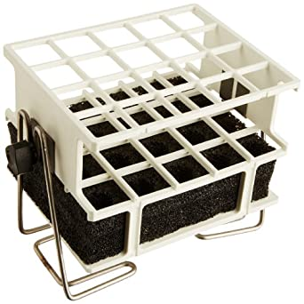 """Barnstead White Half-Size Test Tube Rack Clamp, 17mm to 20mm, 4"""" x 5"""" Array"""